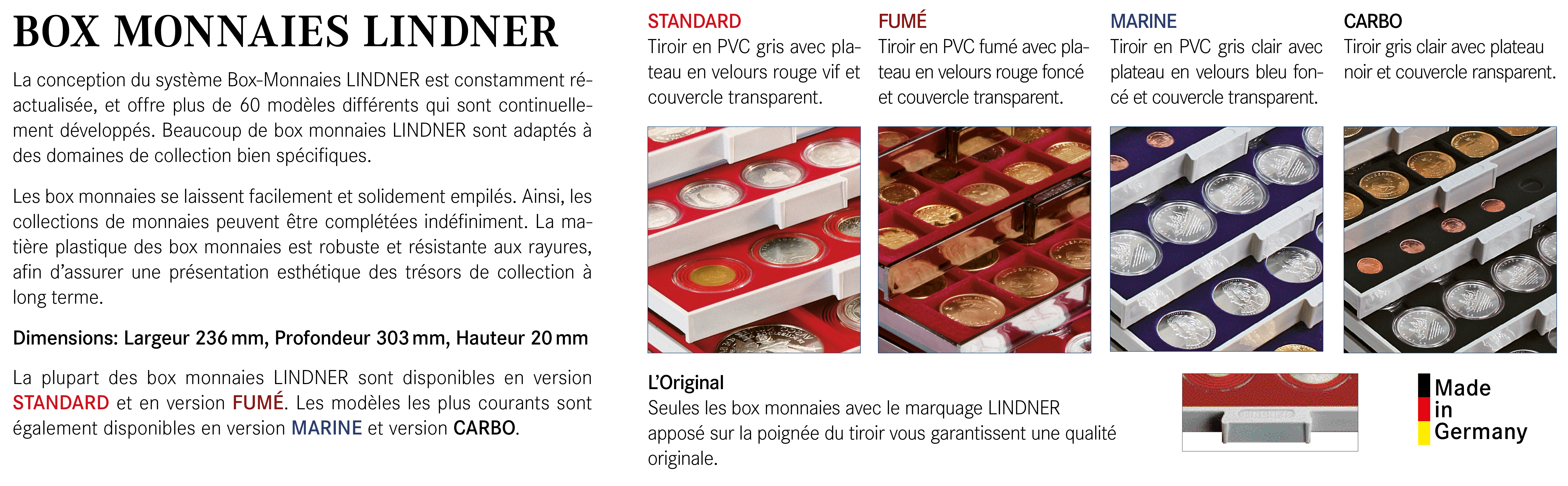 Lindner Box Monnaies